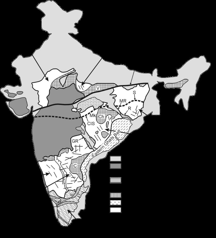 Indian Peninsula Map Tectonic Map of The Indian