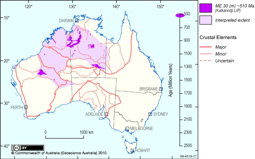 Map Of Australia 1700.October 2010 Lip Of The Month Large Igneous Provinces Commission